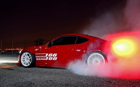 Picture car, tuning, smoke, tuning, burnout, toyota gt86