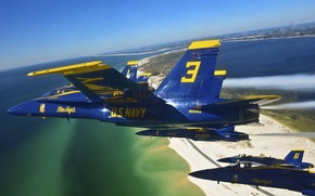 Picture fly, Blue Angels, delta formation