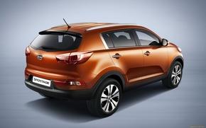 Picture auto, orange, KIA