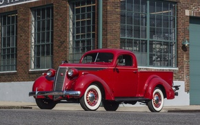 Picture pickup, the front, 1937, Studebaker, Coupe-Express, Model J5