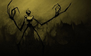 Picture darkness, skeleton, thread