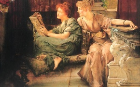 Picture picture, painting, painting, Sir Lawrence Alma-Tadema, Under the Roof of Blue Ionian Weather