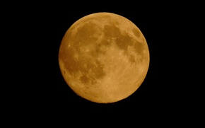 Picture space, night, yellow, space, the universe, the moon, gravity