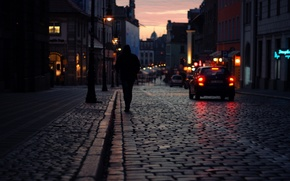 Picture night, the city, street