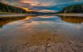 Picture river, Norway, bird footprints
