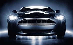 Wallpaper Grey, Aston-Martin, Optics