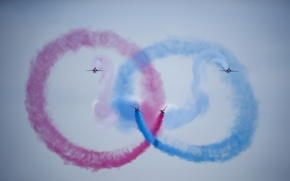 Picture Red Arrows, Symmetry, Tanagra Air base