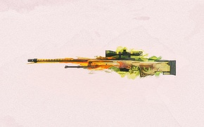 Wallpaper weapons, CS:GO, sniper, background, rifle