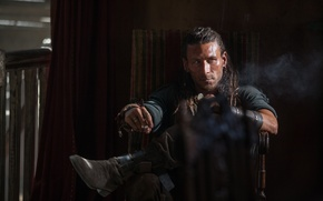 Wallpaper Black sails, Zack McGowan, Charles Vane, look