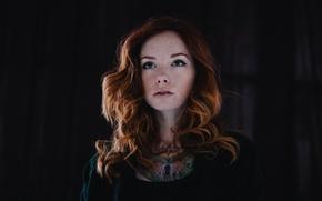 Picture model, tattoo, freckles, red, Hattie Watson