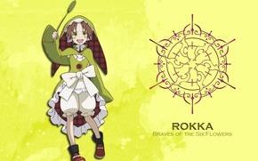 Picture logo, flower, yellow, smile, anime, pretty, assassin, hero, asian, cute, warrior, manga, children, pretty girl, …