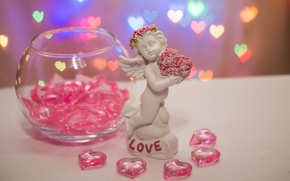 Picture love, holiday, heart, angel, 14 Feb, valentine's day, Valentine's day, notched side