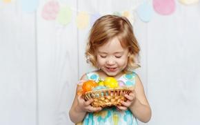 Picture joy, child, Easter, child, Easter, holiday, little girl, Little girls