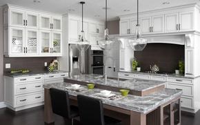 Picture design, table, furniture, kitchen