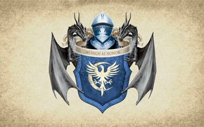 Picture moon, feathers, symbol, series, dragon, A Song of Ice and Fire, Game of Thrones, shield, ...