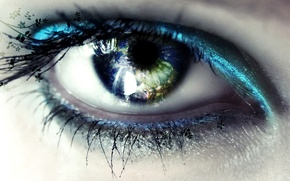 Picture manias, reflection, eyes