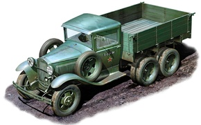 Picture model, art, car, WWII, create, army, Soviet, cargo, concept, years, WW2., option, high, patency, car, ...