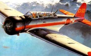 Picture art, Japanese, deck, WW2, figure., type 97, Nakajima B5N, bomber-torpedo