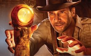 Wallpaper Indiana Jones and the Staff of Kings, treasures, Indiana Jones