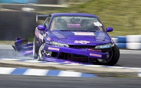 Wallpaper nissan, drift, silvia, s15