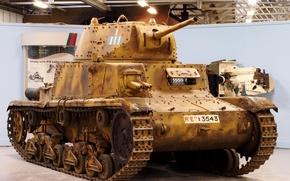 Picture tank, Italian, average, WW2, sandy variant, Carro armato, M13/40
