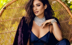 Picture sexy, pose, necklace, makeup, dress, brunette, hairstyle, bracelet, jacket, photoshoot, brand, Shay Mitchell, Shay Mitchell, …