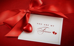 Wallpaper recognition, Valentine, bow, heart
