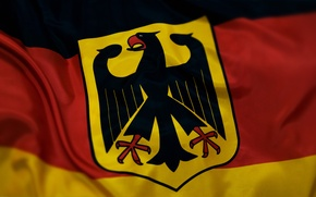 Picture flag, coat of arms, Germany