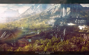 Picture future, awaits, halcyon