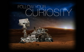 Picture Mars, the Rover, Curiosity