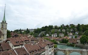 Picture nature, morning, Switzerland, Bern