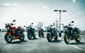 Picture motorcycle, Parking, Triumph, Speed Triple R, 2016 five