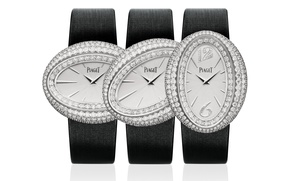 Picture watch, brand, diamond, PIAGET