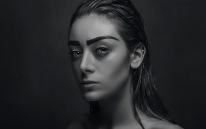 Picture girl, sexy, face, eye, portrait