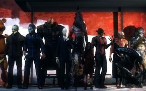 Picture Halloween, resident evil, mass effect, bear, shepard, alien, predator, silent hill, slender, F.E.A.R, nemesis, pyramid …