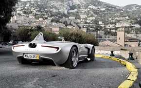 Picture road, the city, sports car
