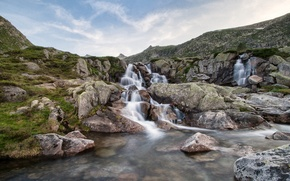 Picture STONES, RIVER, FRANCE, The PYRENEES, PYRENEES, FRANCE