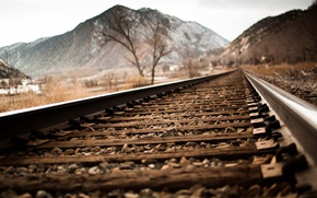 Picture mountains, railway, railroad