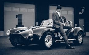 Picture auto, retro, male, Vintage
