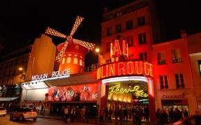 Picture the city, France, Paris, cabaret, one, FR., Moulin Rouge, French, built, Paris, famous, attractions, classic, …