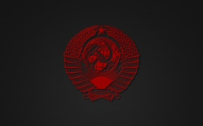 Picture minimalism, USSR, coat of arms