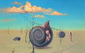 Picture people, child, sink, Surrealism, John Pitre