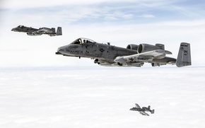 Picture Thunderbolt II, cabin, flight, The thunderbolt II, the sky, attack, A-10C