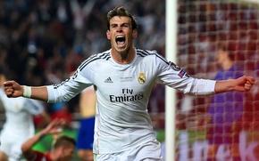 Picture joy, the final, euphoria, goal, goal, Champions League, Champions League, final, Gareth Bale, Gareth Bale, …