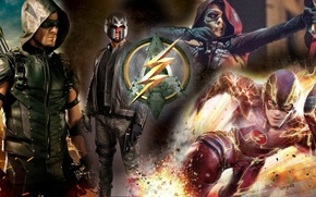 Picture flash, arrow, barry allen, oliver queen, flash and arrow