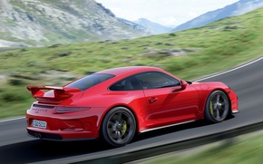 Picture car, red, Porsche, wallpaper, Porsche, 911 GT3
