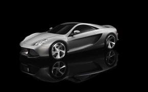 Wallpaper the concept car, silver, Kleemann D-SCK