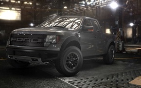 Wallpaper pick-up, ford, the game, The Crew, garage
