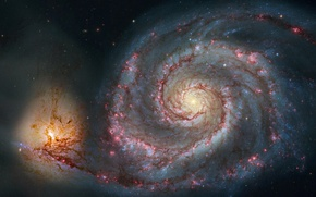 Picture space, galaxy, spiral