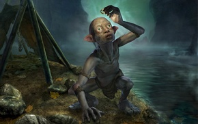 Wallpaper ring, tent, Gollum, The Lord of the rings